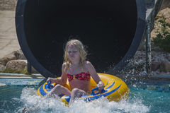 Waterslide in a tube, picture 4 Stock Images