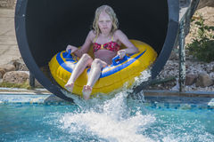 Waterslide in a tube, picture 3 Stock Photo