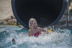Waterslide in a tube, picture 5 Stock Images