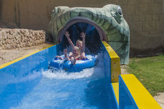 Waterslide in a tube, picture 8 Royalty Free Stock Image