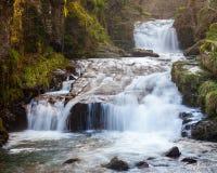 Watersmeet Devon England. Watersmeet Falls, where the East Lyn River and Hoar Oak Water converge, Devon England UK stock images