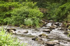 Watersmeet Lynmouth North Devon UK Stock Photos