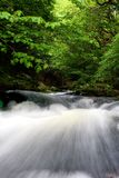 Watersmeet waterfall, England royalty free stock photography