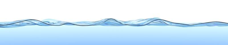 Waterspiegel met golven en rimpelingen. Royalty-vrije Stock Fotografie