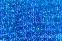 Waterspiegelachtergrond in blauw zwembad Royalty-vrije Stock Fotografie