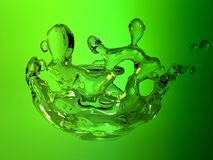 Watersplash on green background Stock Image
