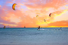 Watersport on Aruba island in the Caribbean Sea Royalty Free Stock Photography