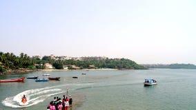 Watersport in Donna Paulla Jetty Goa Stock Foto's