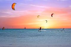 Watersport na Aruba wyspie w morzu karaibskim Zdjęcie Royalty Free