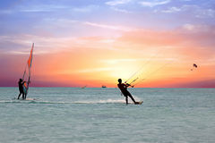 Free Watersport On TheCaribbean Sea At Aruba Island Stock Image - 85079911