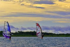 Watersport racing Stock Photography