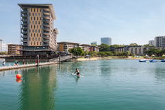 Watersporten in Darwin Waterfront Wharf royalty-vrije stock afbeelding