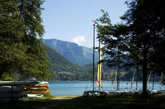 Watersports at Annecy lake Royalty Free Stock Photo