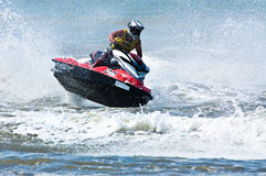 Watersports extrêmes d'avion à réaction-ski Images stock