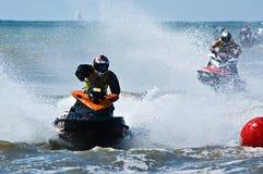 Watersports extremos del jet-esquí Fotos de archivo libres de regalías