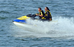 Watersports jet ski racing Stock Image
