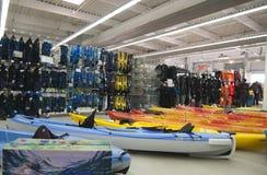 Watersports område i tiokamplager royaltyfri bild