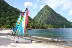 Watersports in St Lucia Stock Foto's