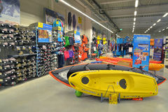 Watersports store Stock Photo