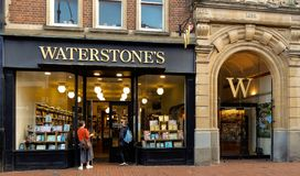 Waterstones Store Front. Reading, United Kingdom - June 22 2018: The store frontage of Waterstones book shop in Broad St Royalty Free Stock Photos