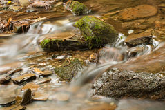 Waterstroom in rivier Royalty-vrije Stock Foto