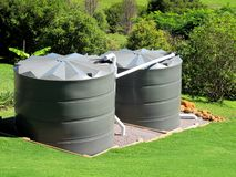 Watertanks Royalty-vrije Stock Fotografie