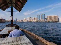 Free Watertaxi On The Creek And Deira Skyline Royalty Free Stock Image - 38190606