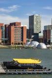Watertaxi parking w Rijnhaven Rotterdam zdjęcia royalty free