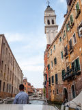 Watertaxi, Venetië, Italië Stock Foto's