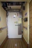 Watertight door on a ship. Watertight door on a cruise ship Royalty Free Stock Image