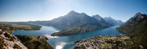 Waterton bird view Royalty Free Stock Image