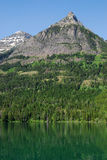 Waterton lake and mountain Stock Photography