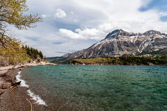 Waterton Lake view from beach stock photos