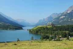 Waterton Lakes in Canada Stock Photography