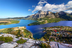 Waterton Lakes National Park. Watertown Lakes National Park in Canada seen from the Bears Hump Stock Image