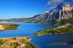 Waterton Lakes National Park. Watertown Lakes National Park in Canada seen from the Bears Hump Stock Photography