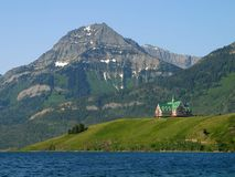 Waterton Lakes Prince of Wales Hotel Royalty Free Stock Images