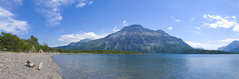 Waterton Lakes in Southern Alberta Stock Photos