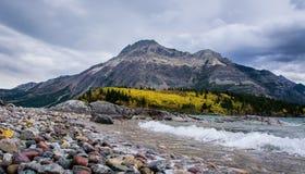 Waterton Montanhas Rochosas Fotografia de Stock Royalty Free