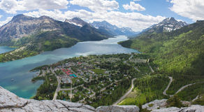 Waterton national park Mountain View Royalty Free Stock Images