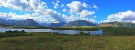 Waterton National Park - Where The Mountains Meet The Prairie Stock Photos