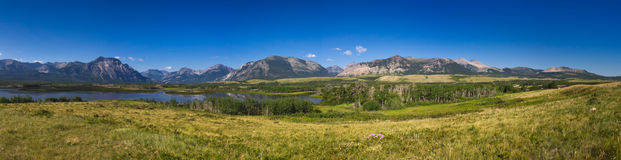 Waterton panorama Royalty Free Stock Images