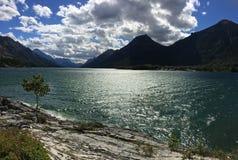 Waterton Park Narodowy jezioro obrazy stock