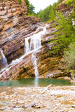 Waterton Water Falls, Waterton, Canada Royalty Free Stock Photography