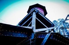 Watertoren en Hemel Stock Afbeelding