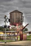 Watertoren voor trein Stock Foto