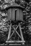Watertoren in zwart-wit Stock Afbeelding