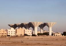 Watertorens in Koeweit, Midden-Oosten Stock Afbeeldingen