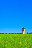 Watertower in fields Royalty Free Stock Photography