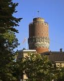 Watertower i den Vaasa staden finland Arkivbilder